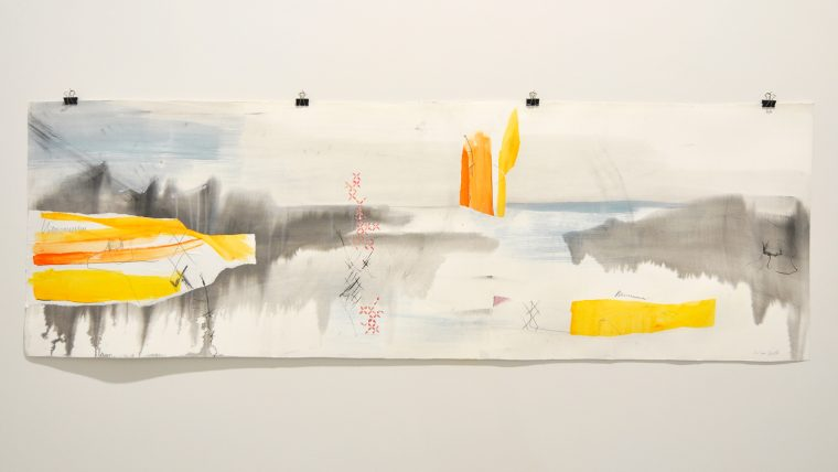 'Landscape with yellow and orange', Kim Lowe & Eve Barlow