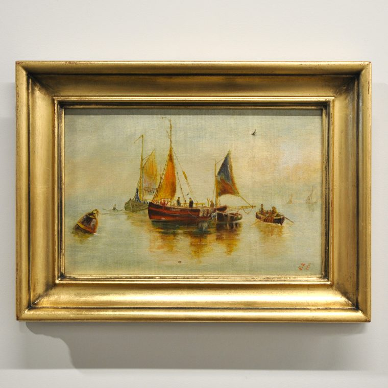 Boat scene painting